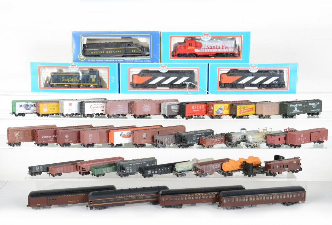 Large HO Diesel & Freight Car Lot