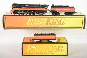 Mth Railking Gs4 Daylight & Aux Tender