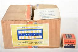 Rare Lionel Empty 787W Box, 763E Instructions