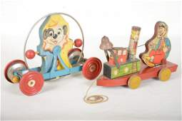 2 Gong Bell Paper Lithographed Toys