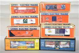 8 Lionel  MTH Freight Cars