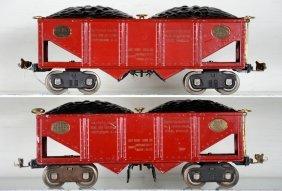 2 Lionel 516 Coal Train Hoppers