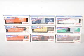 9 Early Lionel Mpc Freight Cars
