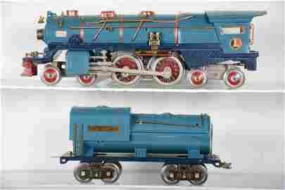 Restored Lionel 400E Blue Comet Loco