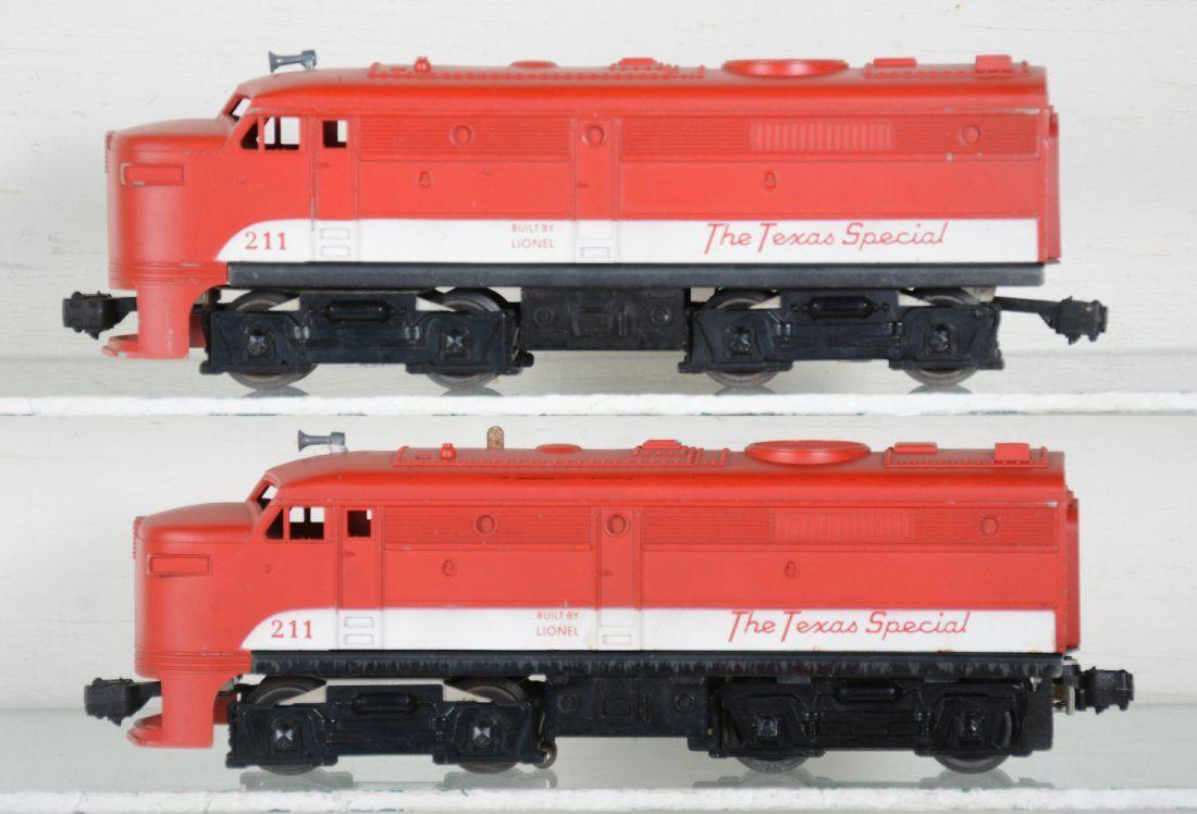 Clean Lionel 211 Texas Special AA Diesels