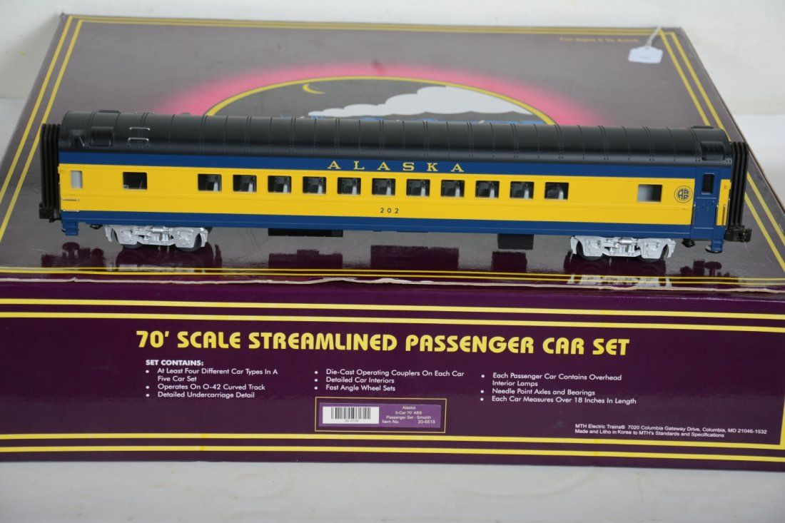 O Ga. MTH 20-6518 Alaska Streamline Passenger Cars