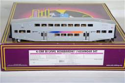 O Ga. MTH 20-65140 NJ Transit Bombardier Set