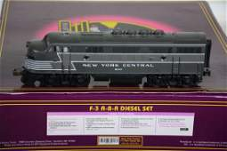 O Ga. MTH Premier 20-2176-1 NYC F3 ABA Diesels