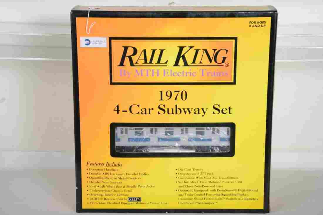 O Ga. MTH RailKing 30-2122-0 1970 Subway Set
