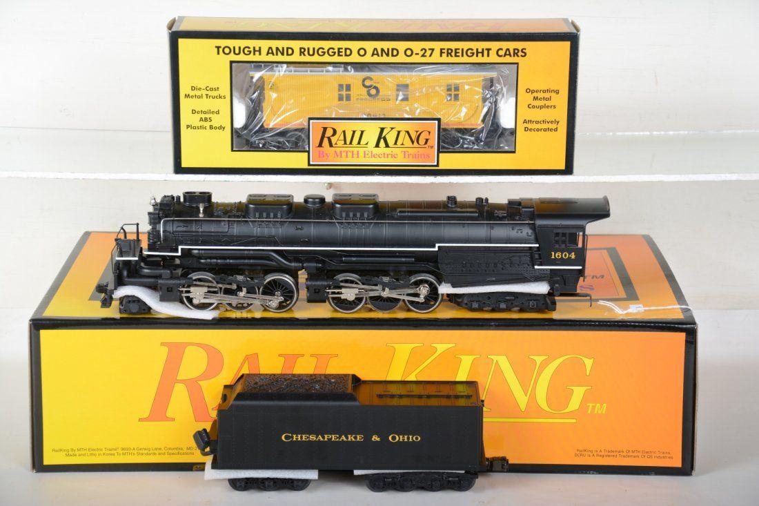 O Ga. MTH RailKing 20-1117LP C&O Allegheny & Caboose