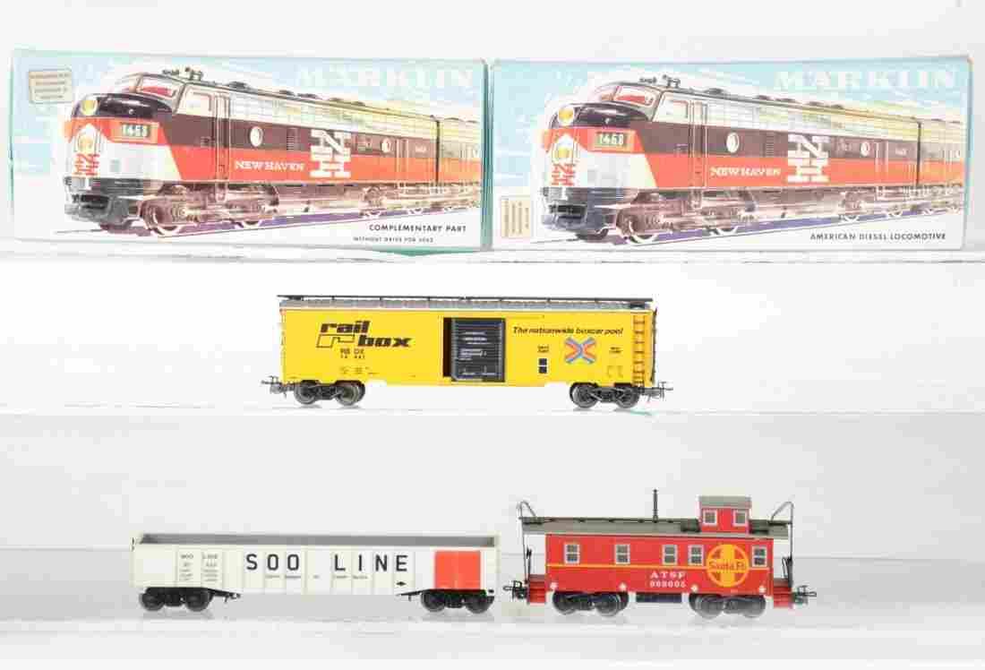 Vintage Marklin HO New Haven Diesel Freight Set