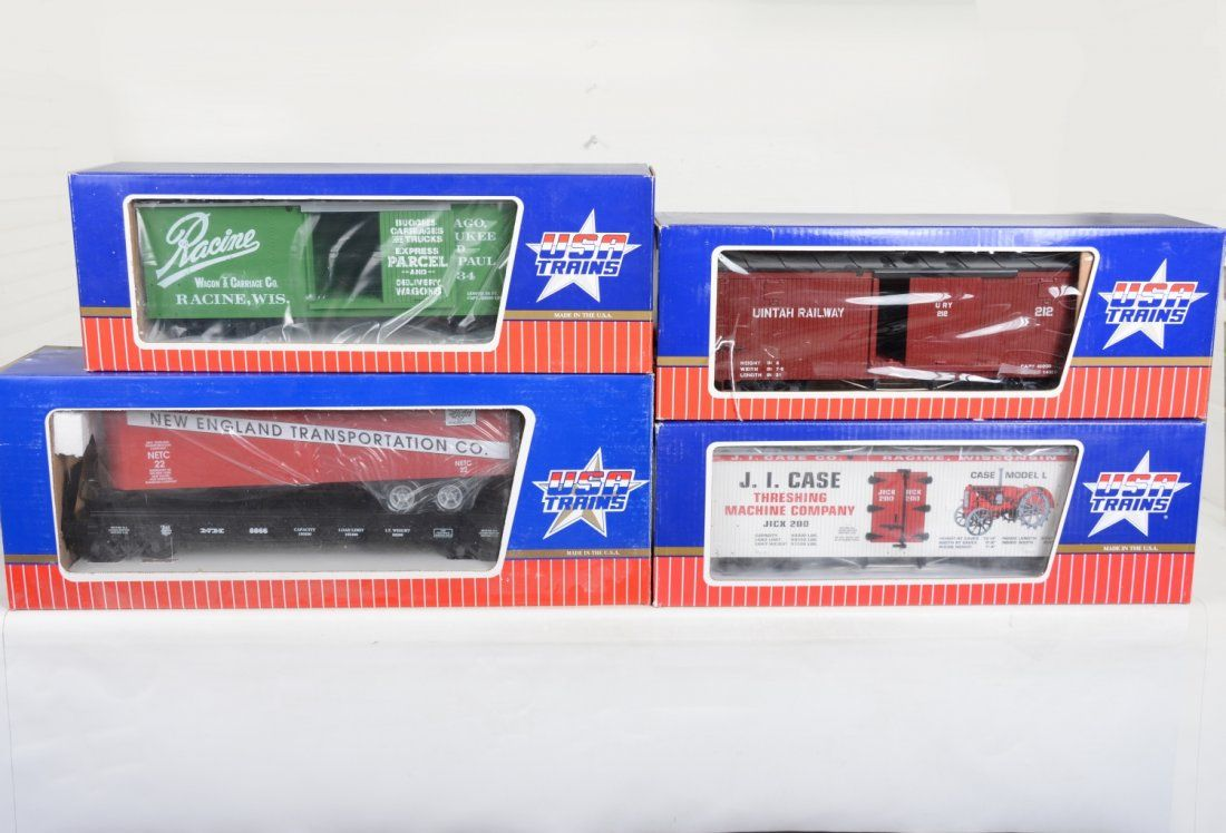 4 USA Freight Cars