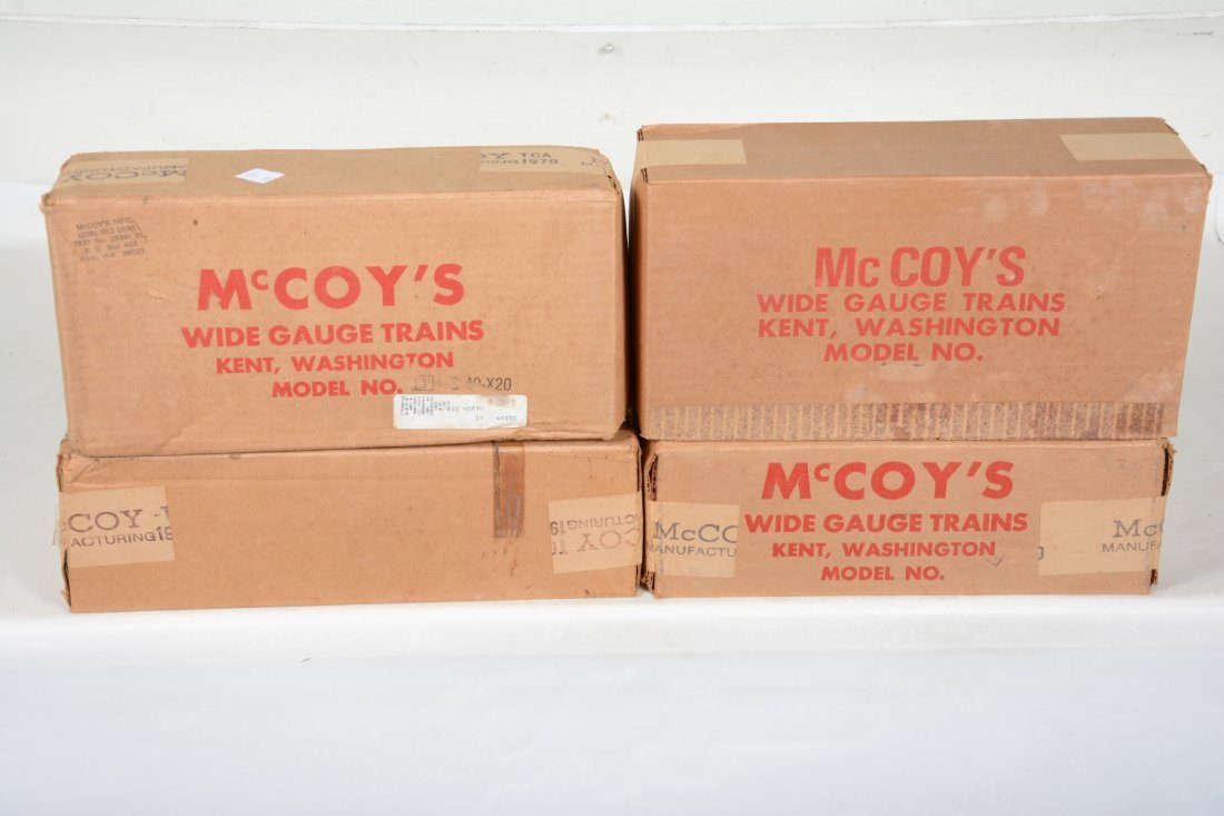 4 Sealed Mc Coy TCA Freight Cars