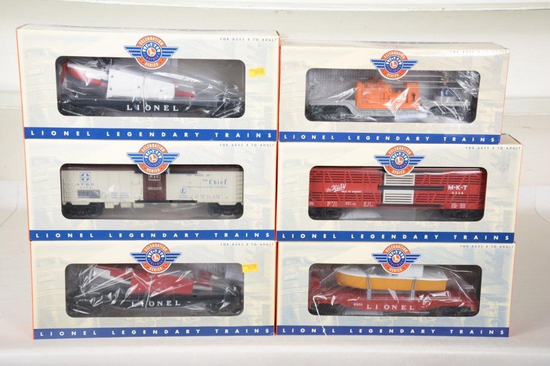 6 Lionel Celebration Series Cars
