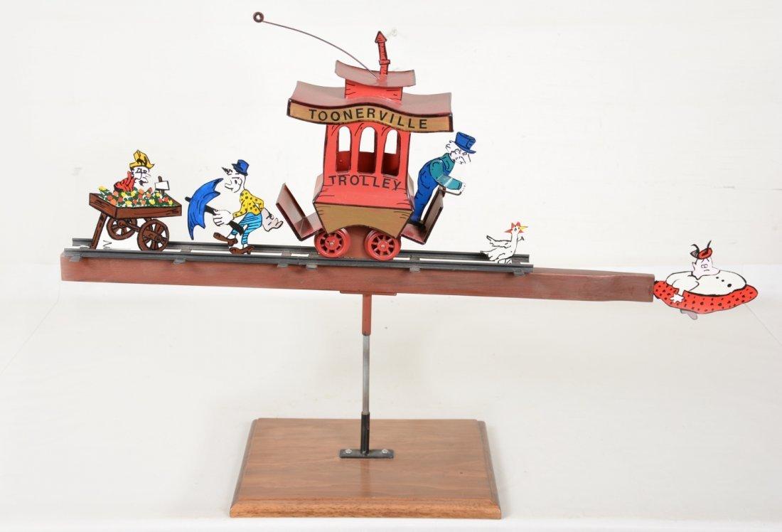 Bob leDuke Toonerville Trolley Sculpture