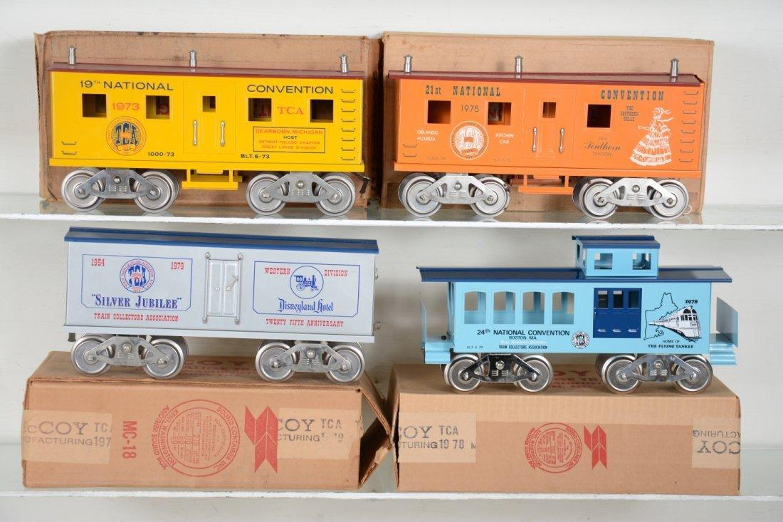 4 Boxed Mc Coy TCA Freight Cars