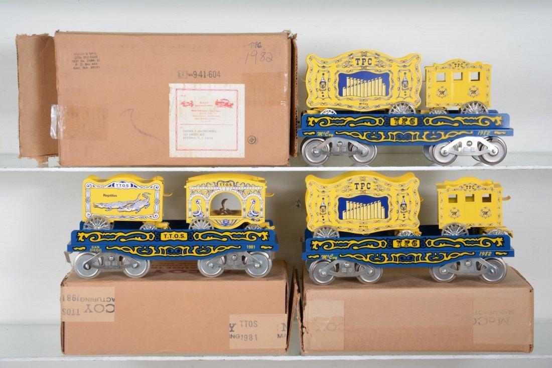 3 Boxed Mc Coy TTOS Circus Cars