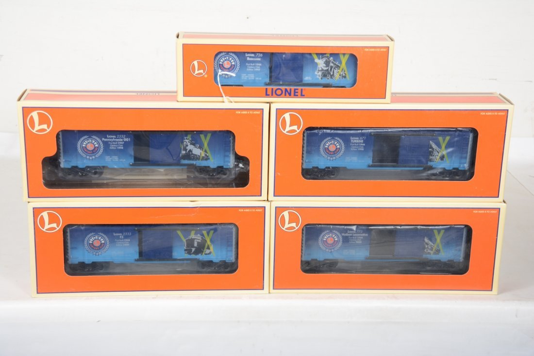 Lionel Century Club Box Cars