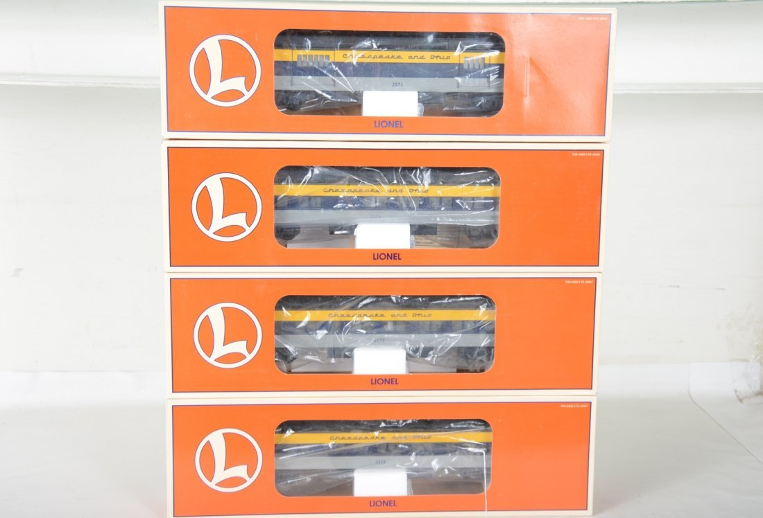 Lionel C&O Streamline Passenger Cars
