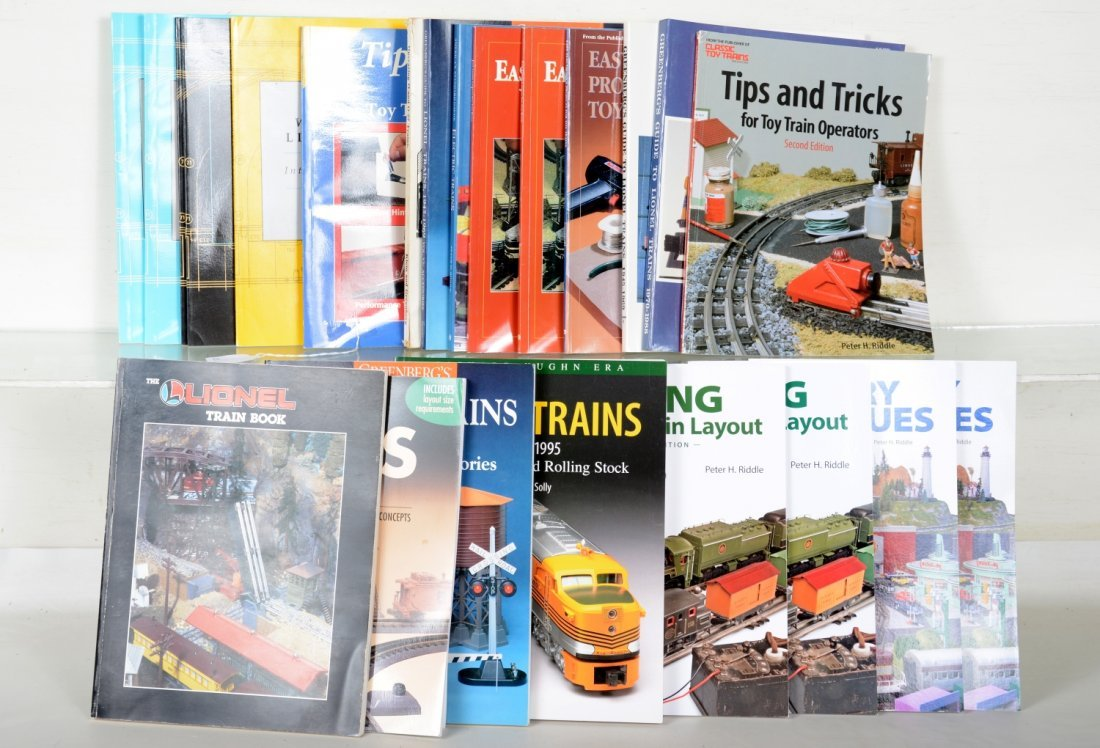 20+ Toy Train & Layout Reference Books