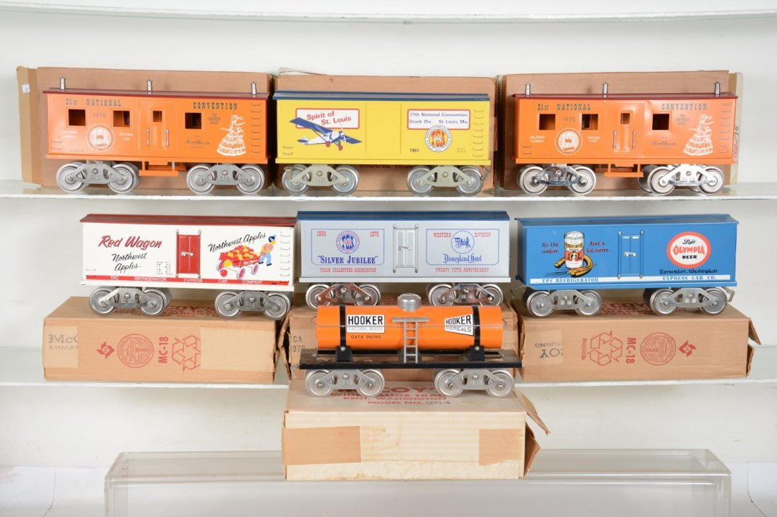 7 Boxed Mc Coy Freight Cars