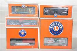 5 Lionel Christmas Cars