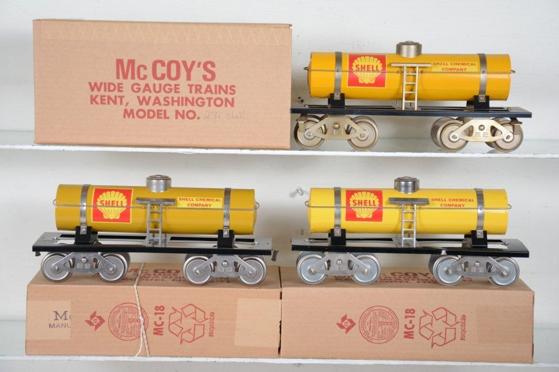 3 Variations Mc Coy 281 Shell Tank Car