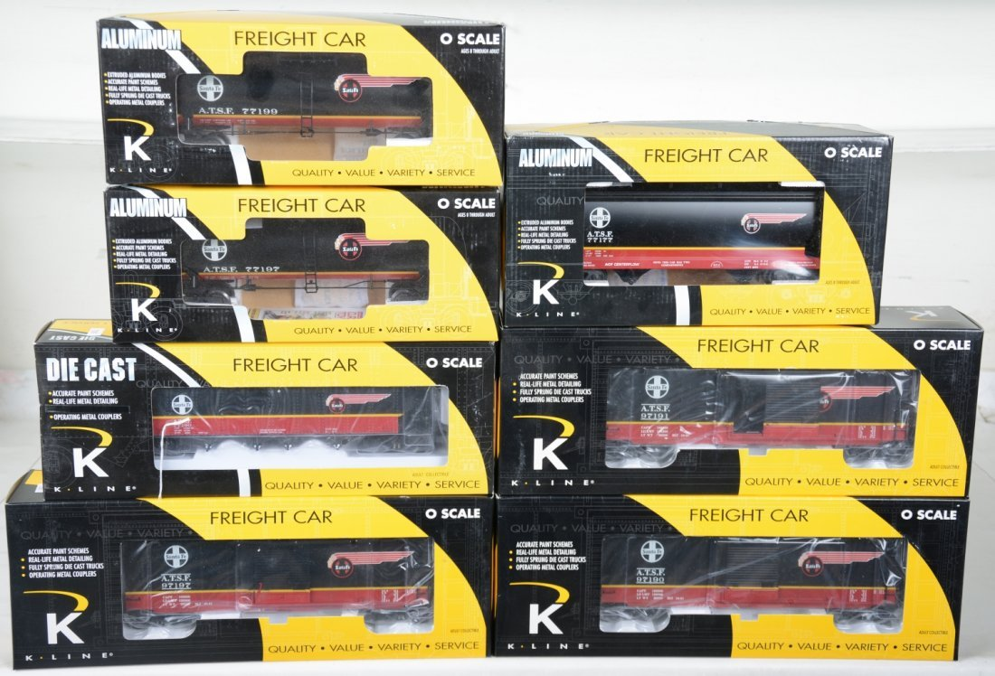 7 K-Line SF Freight Cars
