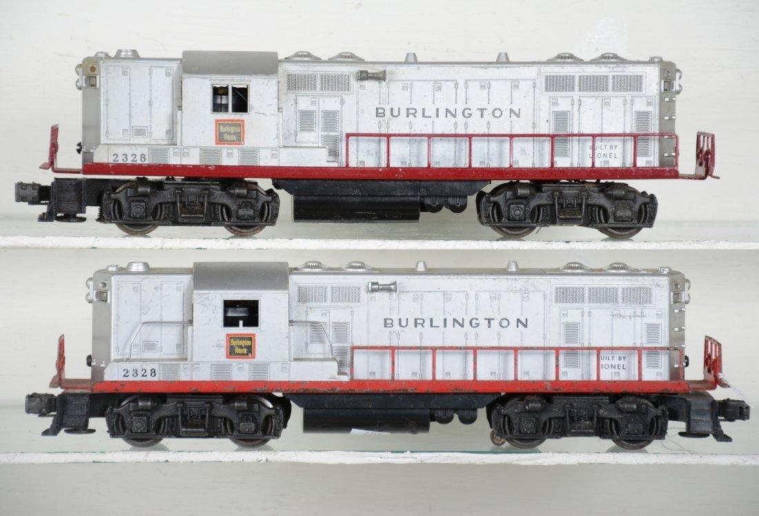 2 Lionel 2328 Burlington GP7 Diesels