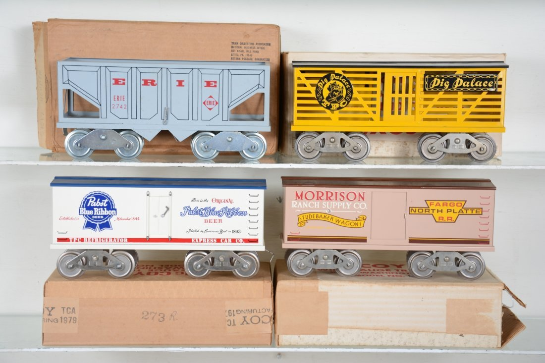 4 Boxed Mc Coy Freight Cars