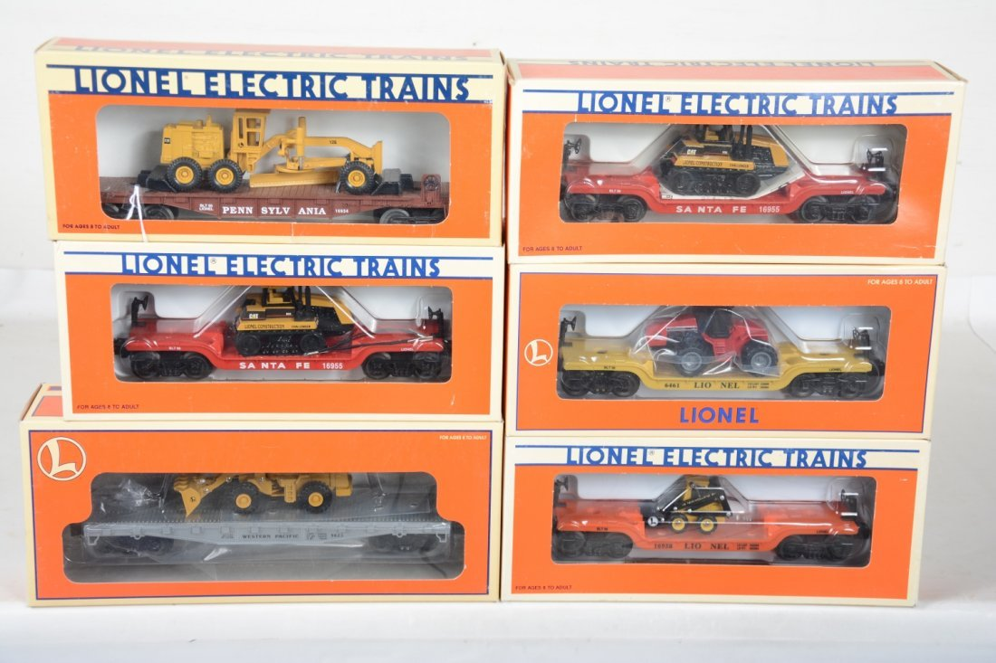 O Ga. Lionel Flats With Construction Vehicles