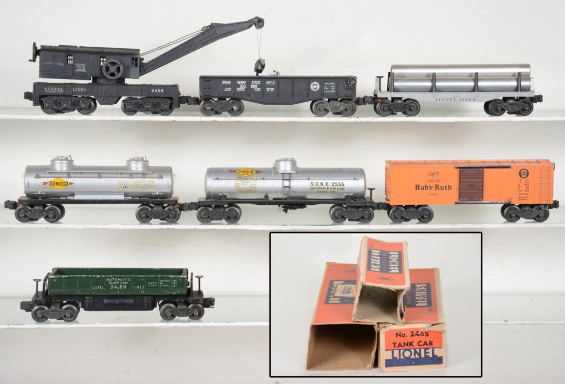 Early Lionel Freight Cars, Some Boxed