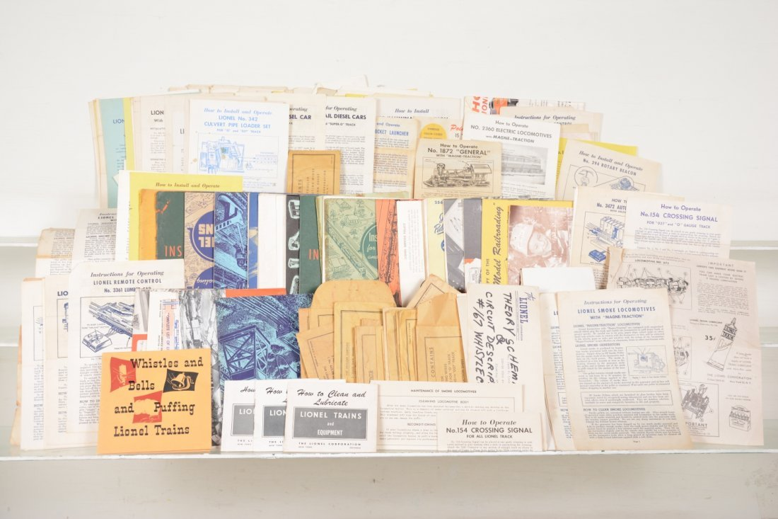 Large Lot Lionel Instructions and Booklets