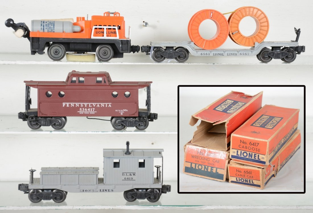 Boxed Lionel Cars