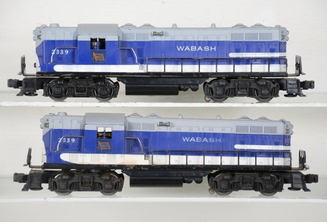 2 Lionel 2339 Wabash GP7 Diesels