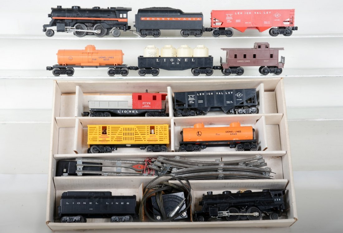 2 Lionel Steam Freight Sets, 1 Boxed