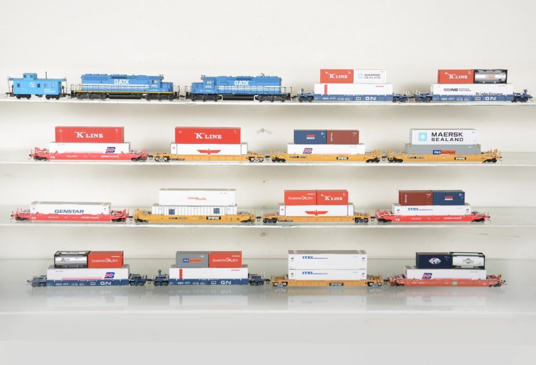 HO GA Nice GATX Well Car Train Set