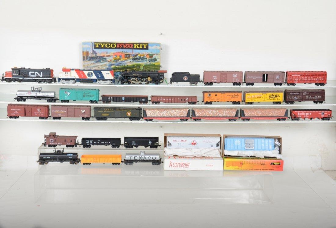 HO GA Mixed Steam & Diesel Freight Group