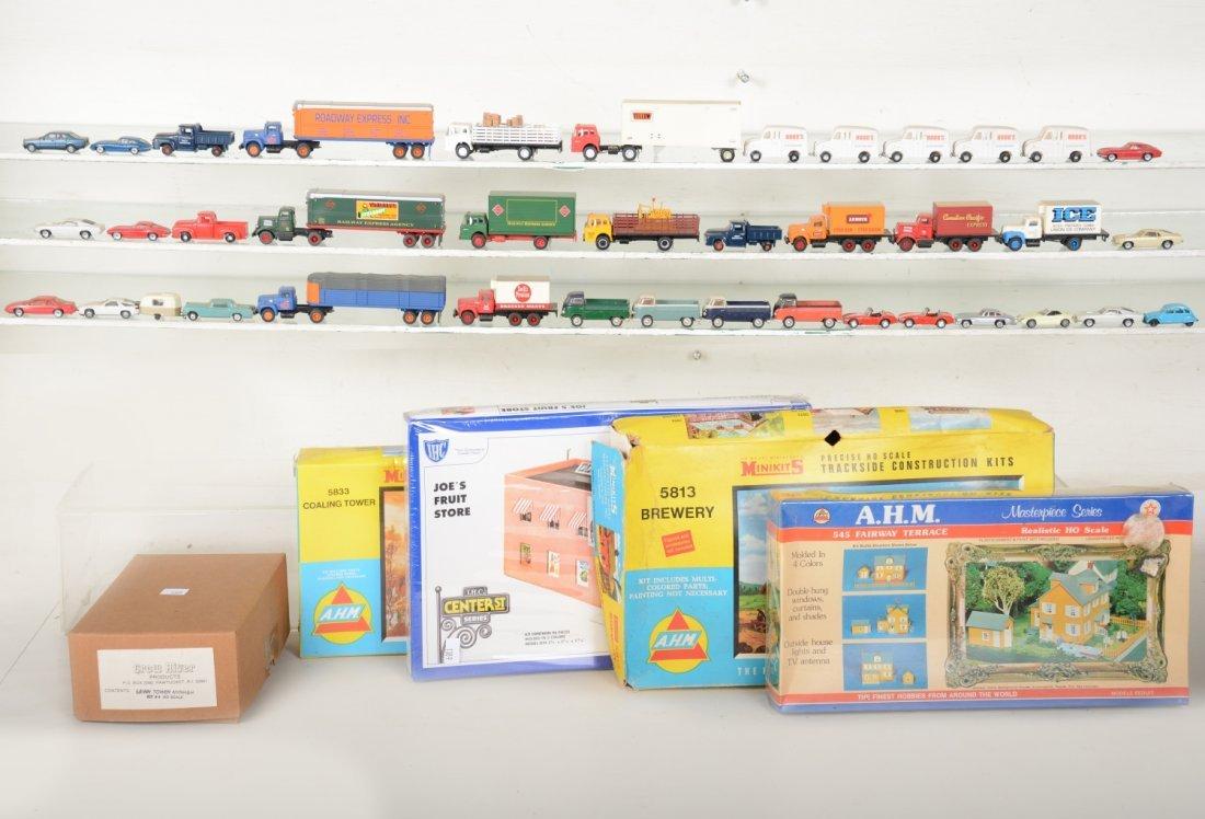HO GA Boxed Building Kits and Layout Vehicles