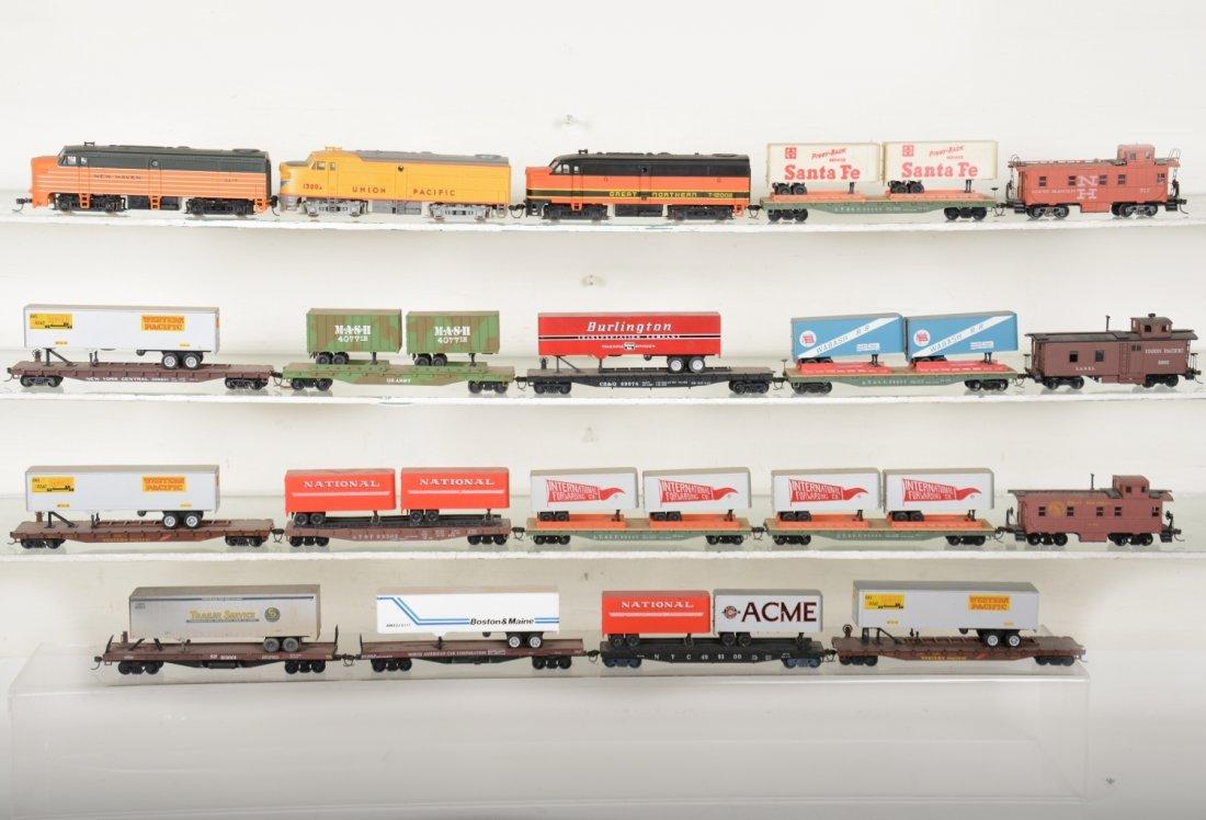 HO GA Diesel Trailer Train Sets