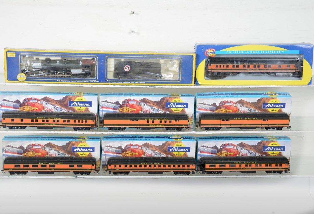 HO GA Great Northern Steam Passenger Set