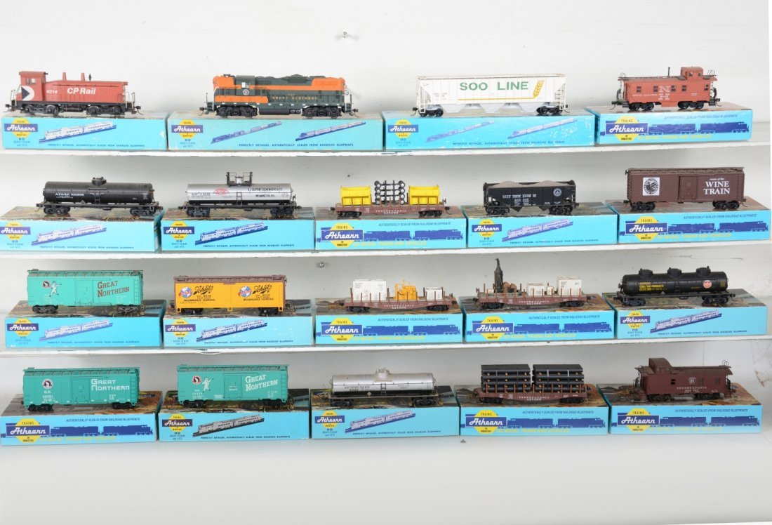 HO GA Boxed Athearn Diesel Freight Group