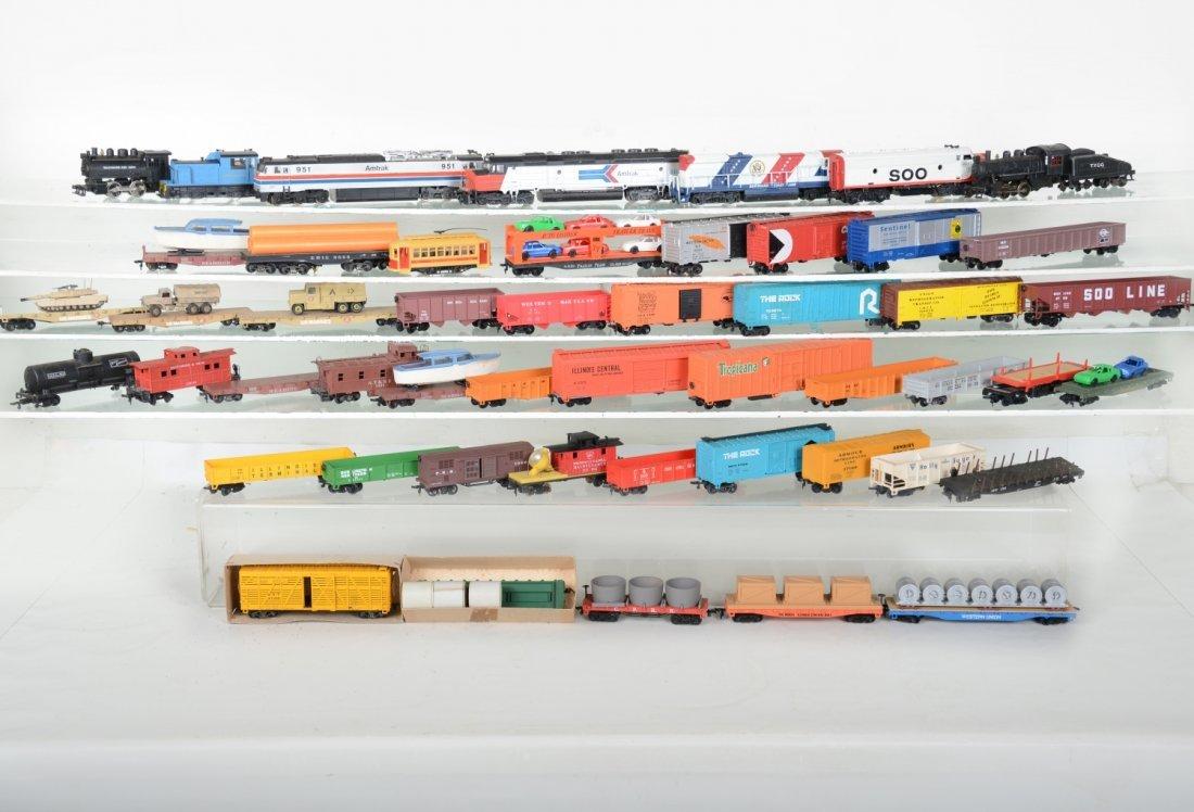 Large HO Trains Lot
