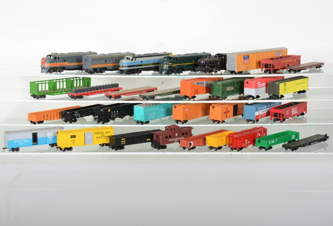Large Group of HO Trains