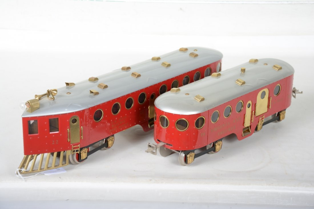 Unusual Richart McKeen Railcar & Trailer - 3
