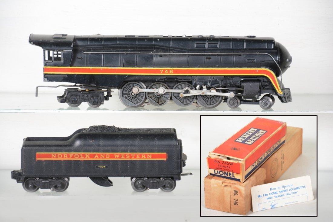 Boxed Lionel 746 N&W J Steam Locomotive