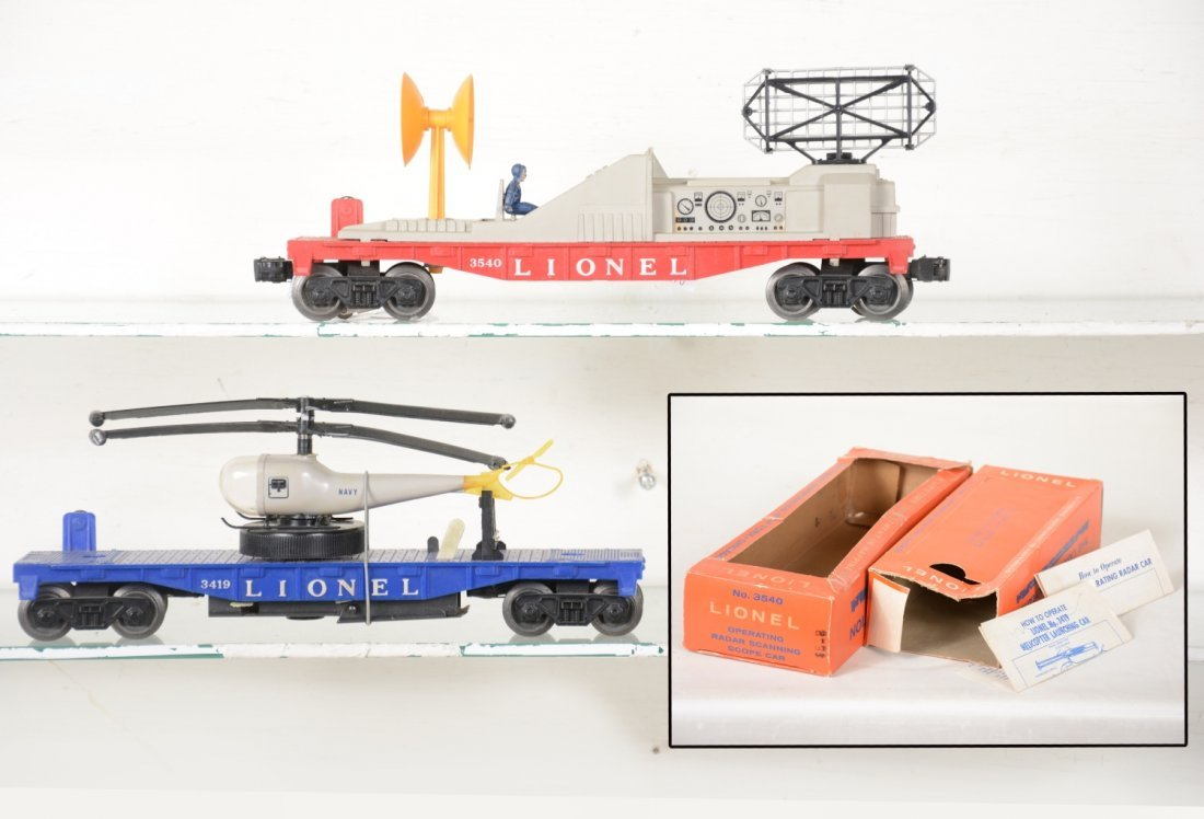 Boxed Lionel 3419 & 3540 Space Cars