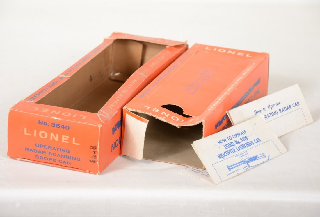 Boxed Lionel 3419 & 3540 Space Cars - 2