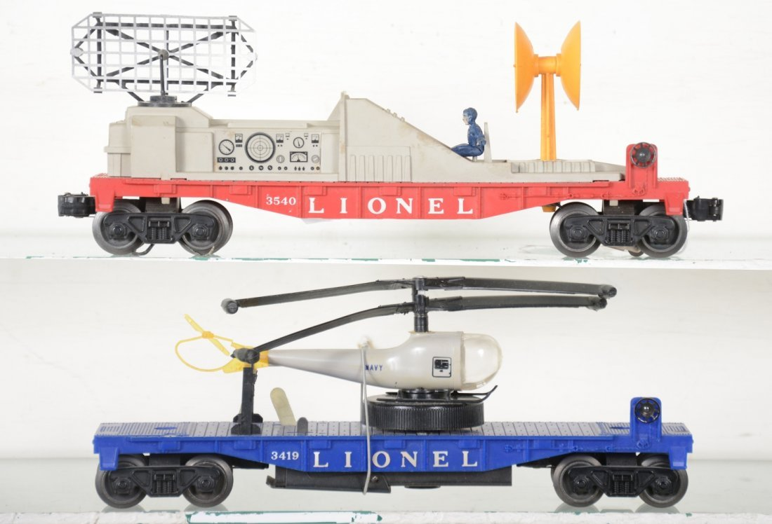 Boxed Lionel 3419 & 3540 Space Cars - 3