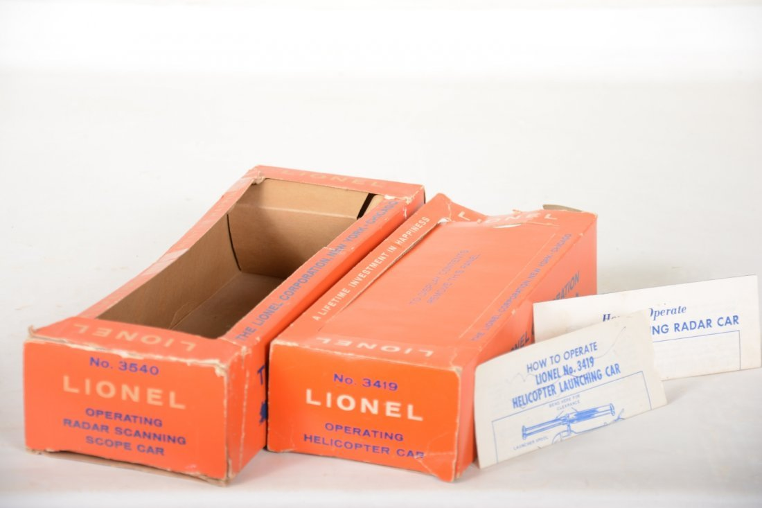Boxed Lionel 3419 & 3540 Space Cars - 4